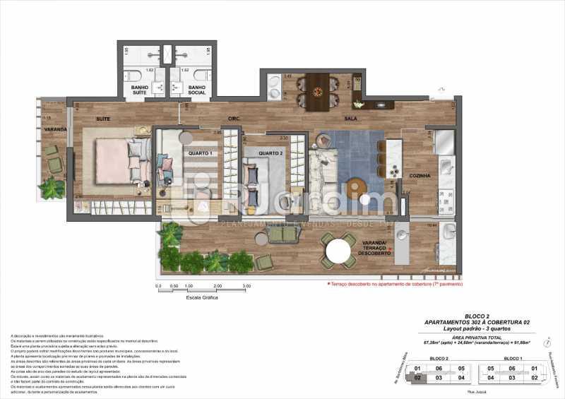 Bloco2-Apto-302-Cobertura2. - Loja 45m² à venda Leblon, Zona Sul,Rio de Janeiro - R$ 1.728.658 - LALJ00135 - 13