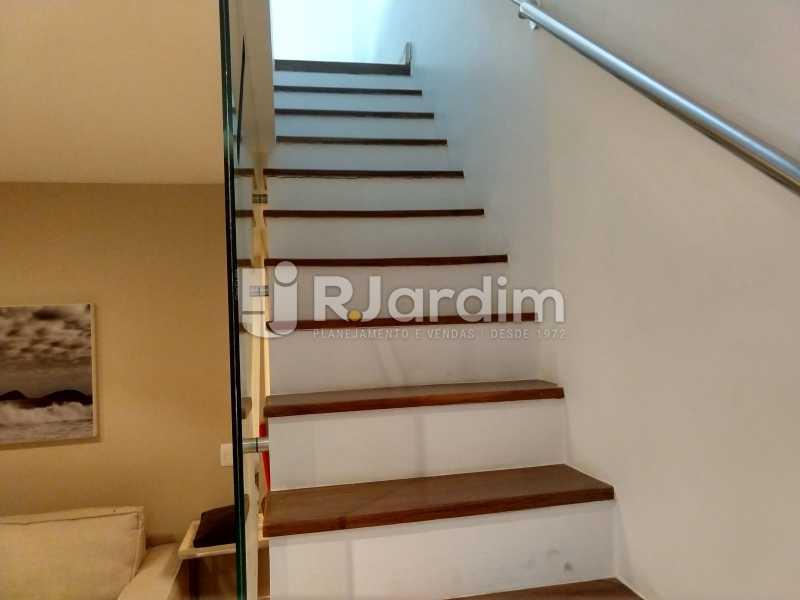 Acesso 2º piso - Cobertura Leblon, Zona Sul,Rio de Janeiro, RJ À Venda, 3 Quartos, 166m² - LACO30276 - 17
