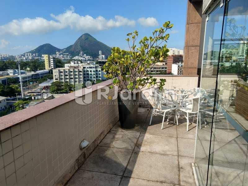 Vista terraço - Cobertura Leblon, Zona Sul,Rio de Janeiro, RJ À Venda, 3 Quartos, 166m² - LACO30276 - 24