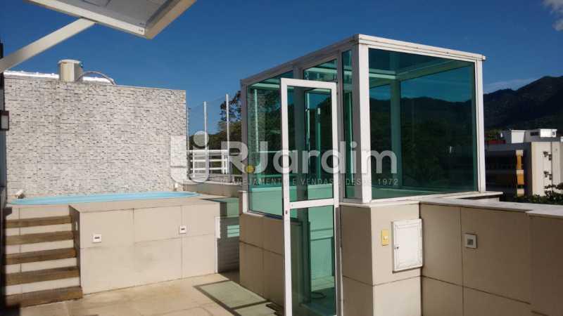 area aberta do terraço - Cobertura Jardim Botânico 2 Quartos Aluguel - LACO20100 - 14