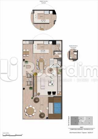 Coberturas 01 e 02 3 quartos - Apartamento Botafogo, Zona Sul,Rio de Janeiro, RJ À Venda, 3 Quartos, 101m² - LAAP32297 - 19