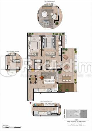 Unidade Garden 3 quartos - Apartamento Botafogo, Zona Sul,Rio de Janeiro, RJ À Venda, 3 Quartos, 101m² - LAAP32297 - 21