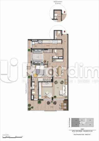 Colunas-01 e-02 3Q frente - Apartamento Botafogo, Zona Sul,Rio de Janeiro, RJ À Venda, 3 Quartos, 101m² - LAAP32297 - 22