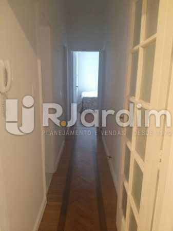 corredor - Apartamento Leblon, Zona Sul,Rio de Janeiro, RJ Para Alugar, 2 Quartos, 85m² - LAAP21482 - 8