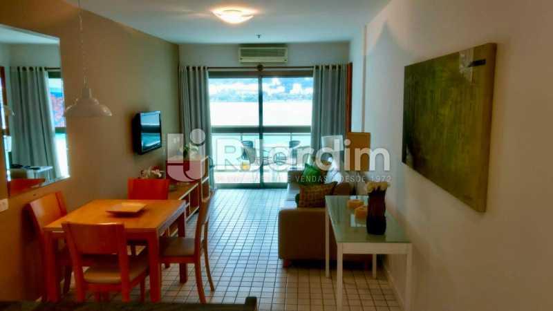 sala  - Flat Residencial Lagoa Suíte Garagem Aluguel Administração Imóveis - LAFL10092 - 3