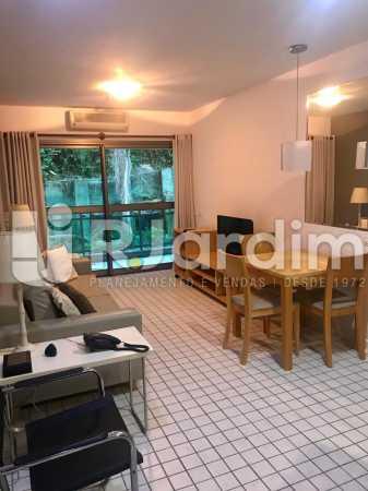 sala - Flat Residencial Lagoa Suíte Garagem Aluguel Administração Imóveis - LAFL10092 - 4