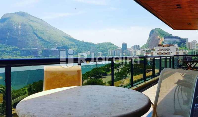 varanda - Apartamento à venda Avenida Epitácio Pessoa,Ipanema, Zona Sul,Rio de Janeiro - R$ 9.500.000 - LAAP32146 - 5