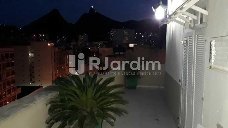 Vista noturna montanha/Cristo - Cobertura Rua das Laranjeiras,Laranjeiras, Zona Sul,Rio de Janeiro, RJ À Venda, 3 Quartos, 230m² - LACO30288 - 3