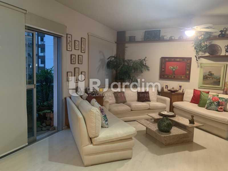 Sala de estar - Apartamento à venda Rua General Rabelo,Gávea, Zona Sul,Rio de Janeiro - R$ 2.400.000 - LAAP21564 - 1