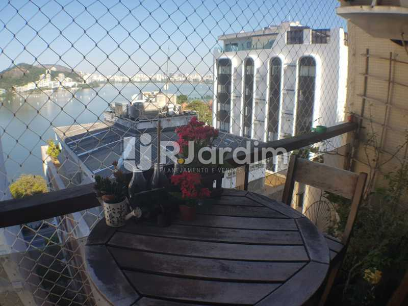 Varanda - Apartamento à venda Avenida Lineu de Paula Machado,Jardim Botânico, Zona Sul,Rio de Janeiro - R$ 2.380.000 - LAAP32193 - 7