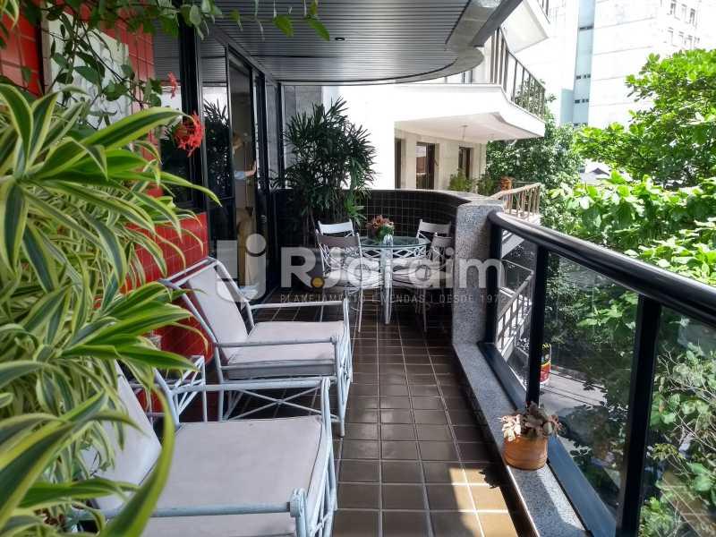 varanda - Apartamento Leblon 3 Quartos - LAAP32262 - 4