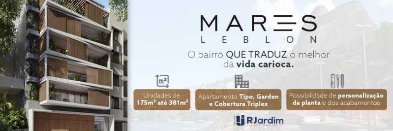 banner - Apartamento Leblon, Zona Sul,Rio de Janeiro, RJ À Venda, 3 Quartos, 175m² - LAAP32274 - 1