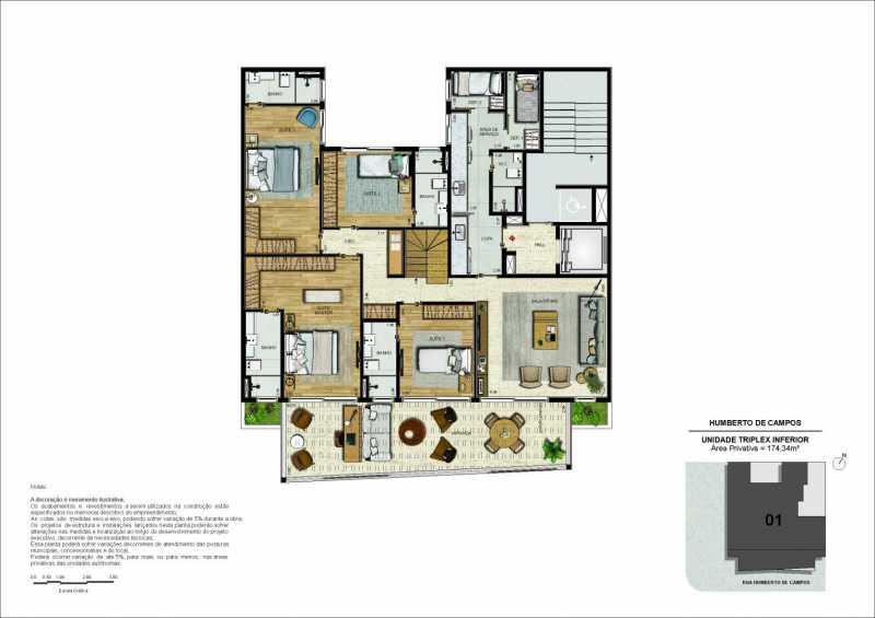 04-pl-triplex-pav-inferior-rev - Apartamento Leblon, Zona Sul,Rio de Janeiro, RJ À Venda, 3 Quartos, 175m² - LAAP32274 - 13