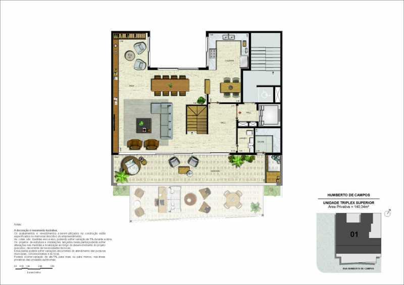 05-pl-triplex-pav-superior-rev - Apartamento Leblon, Zona Sul,Rio de Janeiro, RJ À Venda, 3 Quartos, 175m² - LAAP32274 - 14