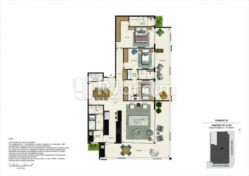 dumont52gavea 7 - Apartamento 3 Quartos À Venda Gávea, Zona Sul,Rio de Janeiro - R$ 2.420.000 - LAAP32380 - 9