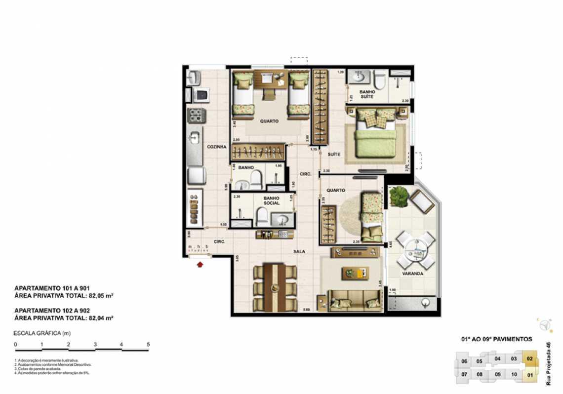 APARTAMENTO 101 - Apartamento Recreio dos Bandeirantes, Zona Oeste - Barra e Adjacentes,Rio de Janeiro, RJ À Venda, 3 Quartos, 82m² - LAAP32294 - 10