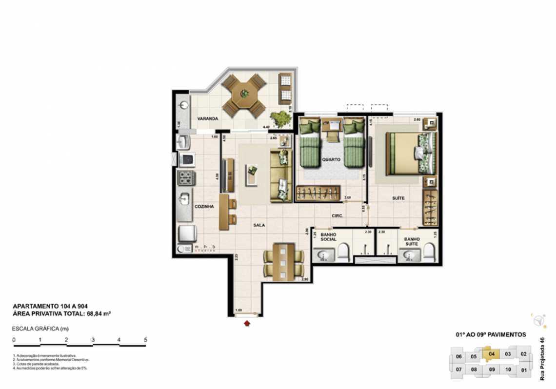APARTAMENTO 104 - Apartamento Recreio dos Bandeirantes, Zona Oeste - Barra e Adjacentes,Rio de Janeiro, RJ À Venda, 3 Quartos, 82m² - LAAP32294 - 12