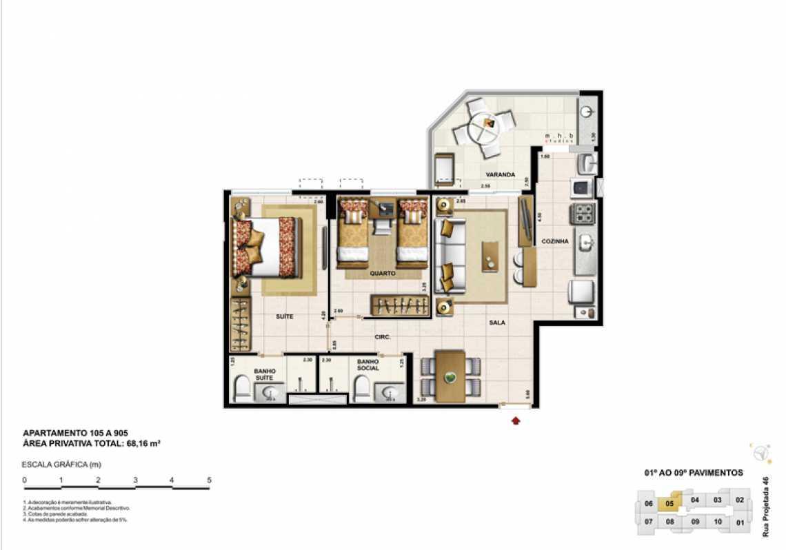 APARTAMENTO 105 - Apartamento Recreio dos Bandeirantes, Zona Oeste - Barra e Adjacentes,Rio de Janeiro, RJ À Venda, 3 Quartos, 82m² - LAAP32294 - 13