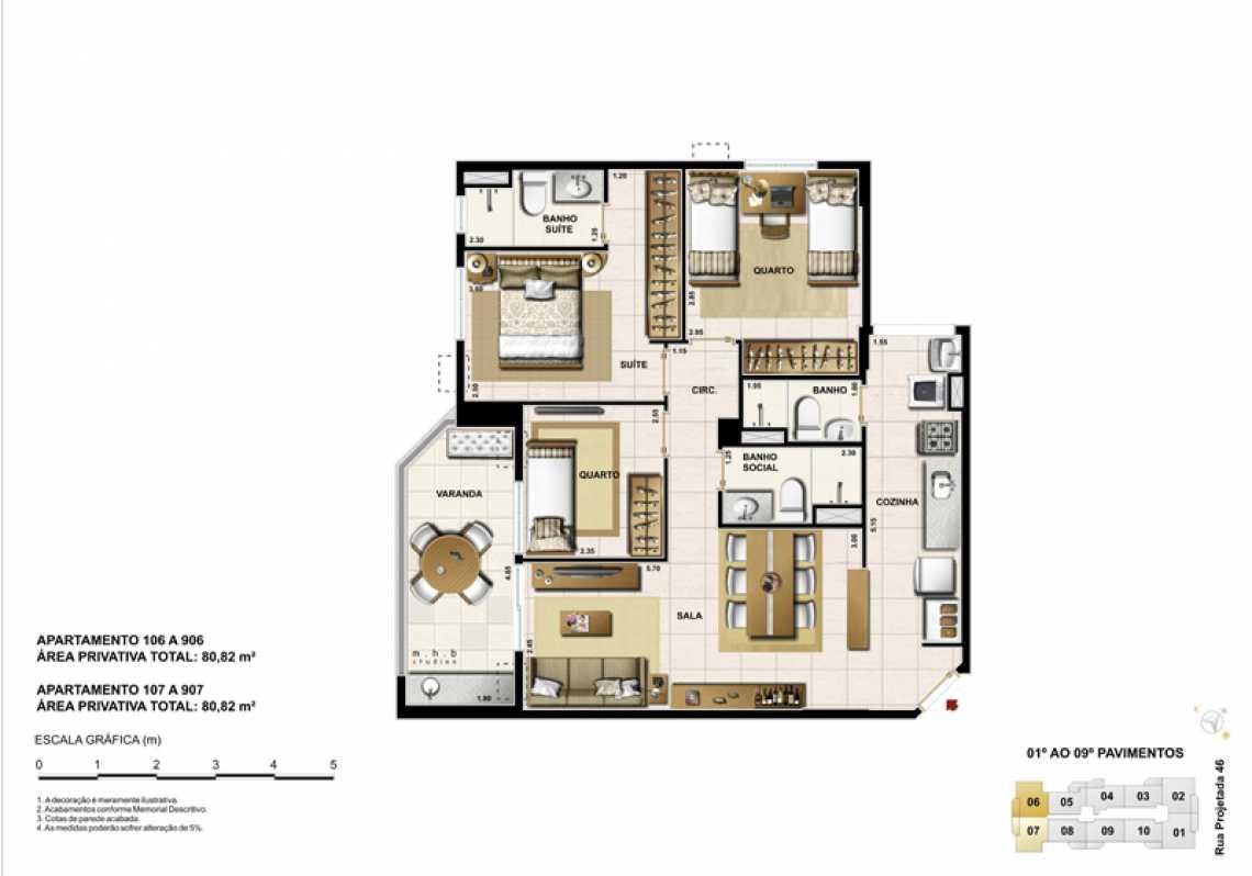 APARTAMENTO 106 - Apartamento Recreio dos Bandeirantes, Zona Oeste - Barra e Adjacentes,Rio de Janeiro, RJ À Venda, 3 Quartos, 82m² - LAAP32294 - 14