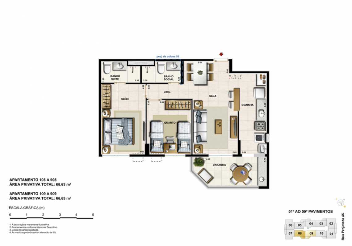 APARTAMENTO 108 - Apartamento Recreio dos Bandeirantes, Zona Oeste - Barra e Adjacentes,Rio de Janeiro, RJ À Venda, 3 Quartos, 82m² - LAAP32294 - 15