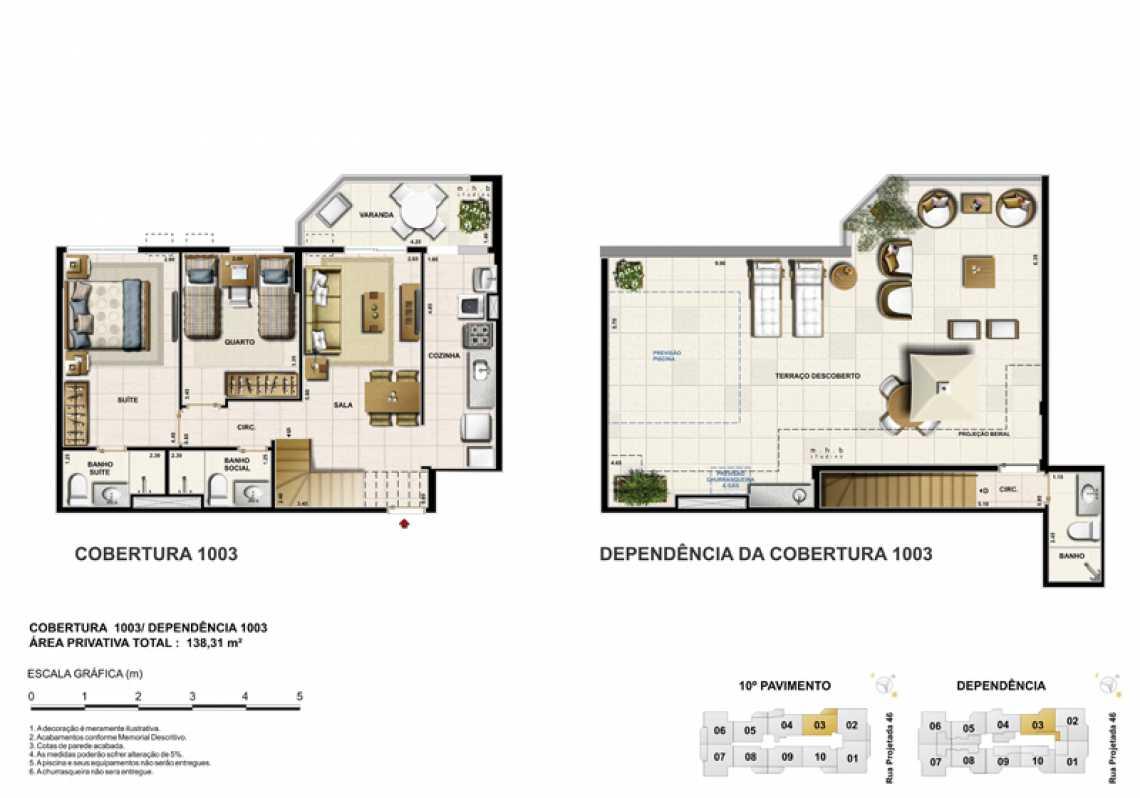 COBERTURA 1003 - Apartamento Recreio dos Bandeirantes, Zona Oeste - Barra e Adjacentes,Rio de Janeiro, RJ À Venda, 3 Quartos, 82m² - LAAP32294 - 18