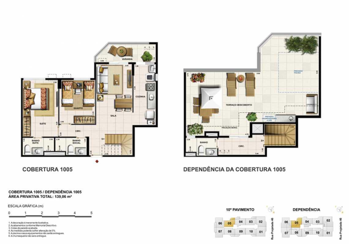 COBERTURA 1005 - Apartamento Recreio dos Bandeirantes, Zona Oeste - Barra e Adjacentes,Rio de Janeiro, RJ À Venda, 3 Quartos, 82m² - LAAP32294 - 20