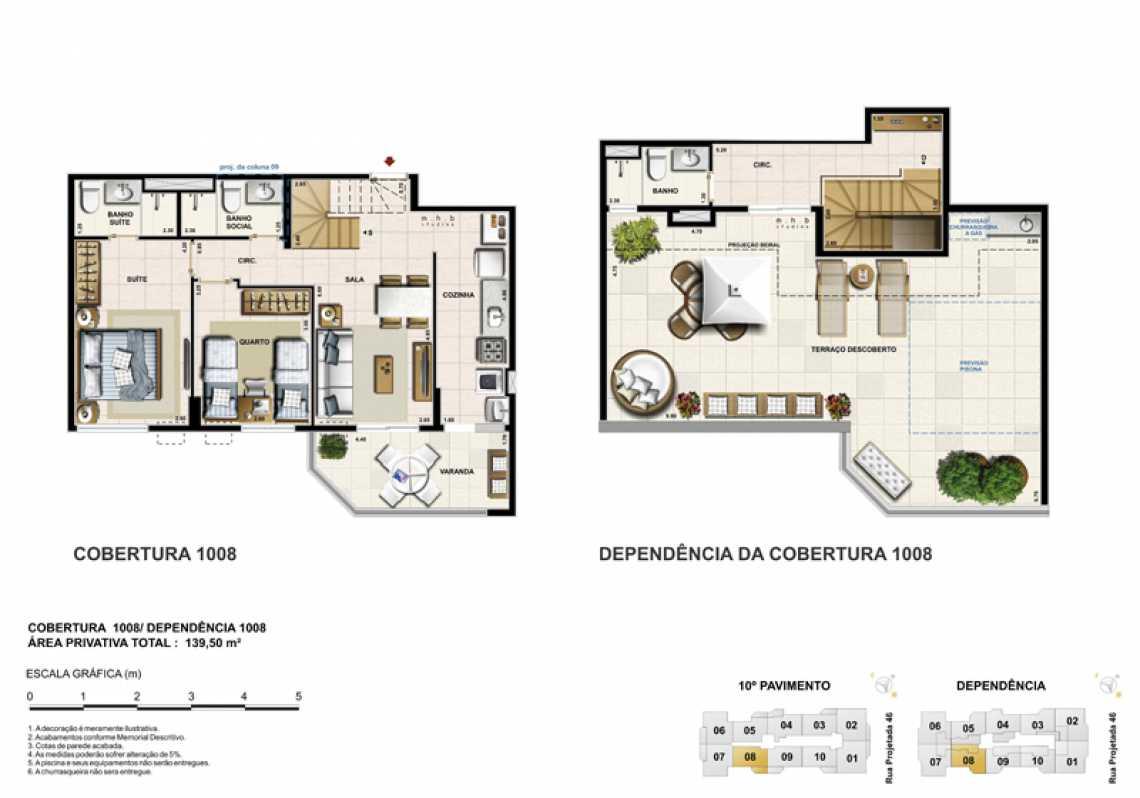 COBERTURA 1008 - Apartamento Recreio dos Bandeirantes, Zona Oeste - Barra e Adjacentes,Rio de Janeiro, RJ À Venda, 3 Quartos, 82m² - LAAP32294 - 22