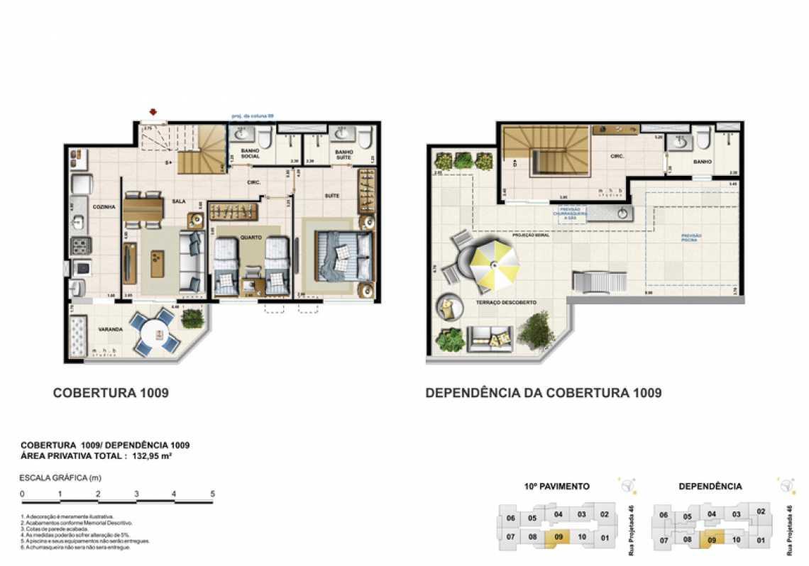 COBERTURA 1009 - Apartamento Recreio dos Bandeirantes, Zona Oeste - Barra e Adjacentes,Rio de Janeiro, RJ À Venda, 3 Quartos, 82m² - LAAP32294 - 23