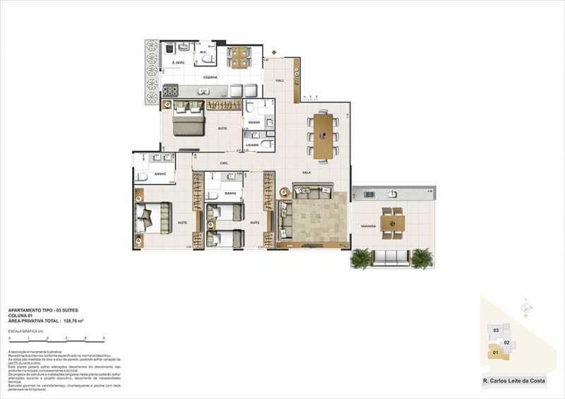 biancovita-construtoravitale-b - Apartamento Barra da Tijuca, Zona Oeste - Barra e Adjacentes,Rio de Janeiro, RJ À Venda, 3 Quartos, 130m² - LAAP32347 - 9