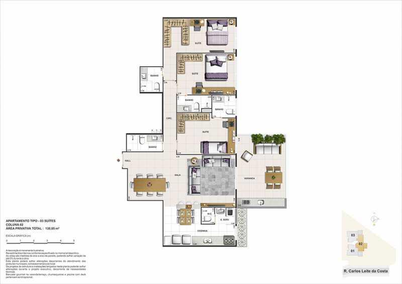 biancovita-construtoravitale-b - Apartamento Barra da Tijuca, Zona Oeste - Barra e Adjacentes,Rio de Janeiro, RJ À Venda, 3 Quartos, 130m² - LAAP32347 - 10