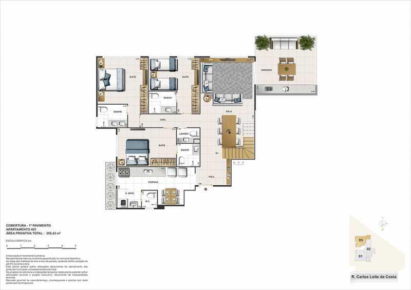 biancovita-construtoravitale-b - Apartamento Barra da Tijuca, Zona Oeste - Barra e Adjacentes,Rio de Janeiro, RJ À Venda, 3 Quartos, 130m² - LAAP32347 - 12