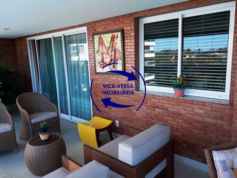 varanda - Apartamento À venda na Barra - Américas Park Sunspecial,166m2, varandão, 4 quartos (2 suítes), dependências, 2 vagas! - 1183 - 8
