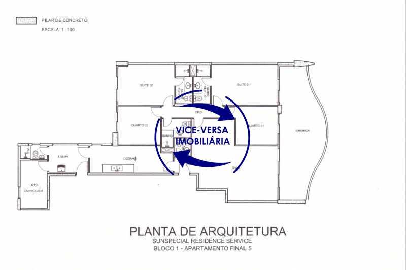 planta-baixa - Apartamento À venda na Barra - Américas Park Sunspecial,166m2, varandão, 4 quartos (2 suítes), dependências, 2 vagas! - 1183 - 26