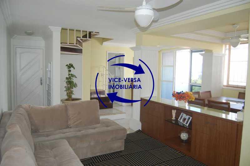 sala estar - Apartamento À venda na Barra - Condomínio Mandala - home office, 3 quartos (suíte), dependências, 2 vagas! - 1205 - 1