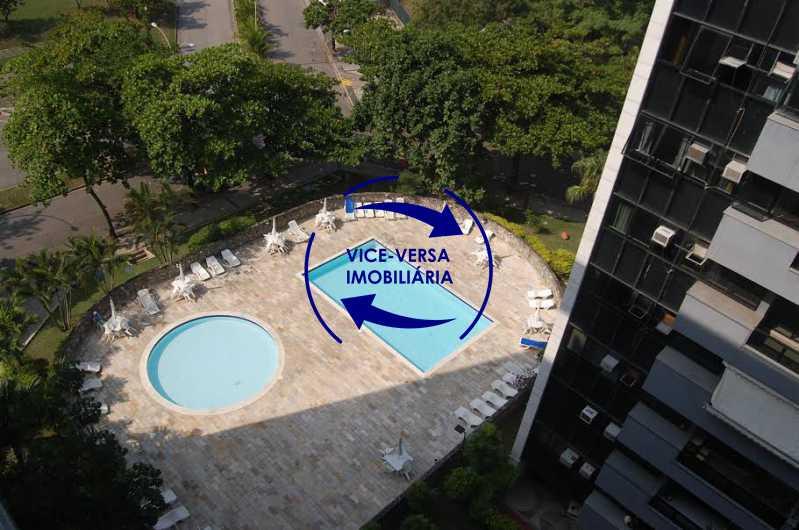 varanda vista piscina - Apartamento À venda na Barra - Condomínio Mandala - home office, 3 quartos (suíte), dependências, 2 vagas! - 1205 - 7