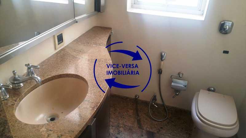 banheiro-da-suite - Apartamento À venda na Tijuca, parte nobre - salão, sala anexa, 3 quartos, suíte, dependências, 2 vagas! - 1209 - 17
