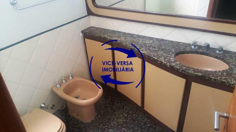 banheiro-social - Apartamento À venda na Tijuca, parte nobre - salão, sala anexa, 3 quartos, suíte, dependências, 2 vagas! - 1209 - 23