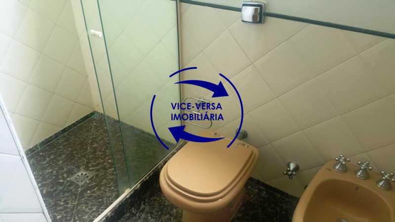 banheiro-social - Apartamento À venda na Tijuca, parte nobre - salão, sala anexa, 3 quartos, suíte, dependências, 2 vagas! - 1209 - 24