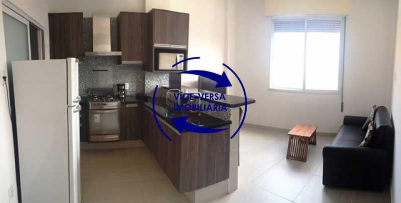 sala-com-cozinha-integrada - Apartamento Centro, Rio de Janeiro, RJ À Venda, 1 Quarto, 50m² - 1217 - 3