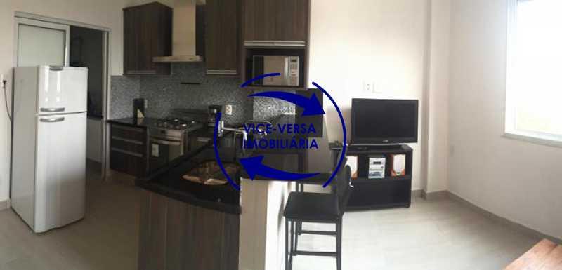 sala-com-cozinha-integrada - Apartamento Centro, Rio de Janeiro, RJ À Venda, 1 Quarto, 50m² - 1217 - 4