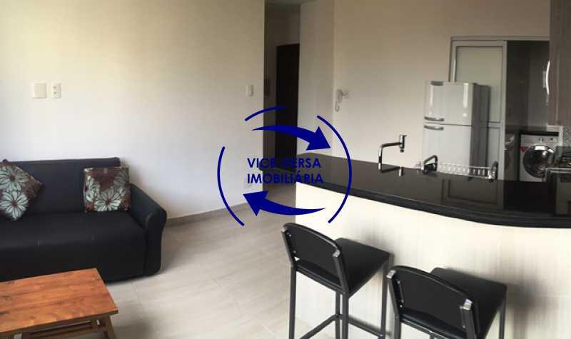 sala-com-cozinha-integrada - Apartamento Centro, Rio de Janeiro, RJ À Venda, 1 Quarto, 50m² - 1217 - 5