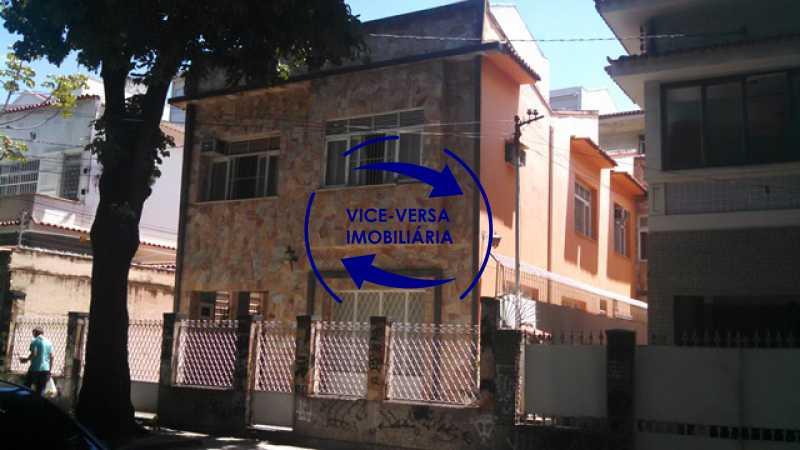 fachada - Casa duplex À venda na Tijuca, rua Carmela Dutra - 5 quartos, lavanderia, dependências, garagem, próximo de tudo! - 1233 - 3