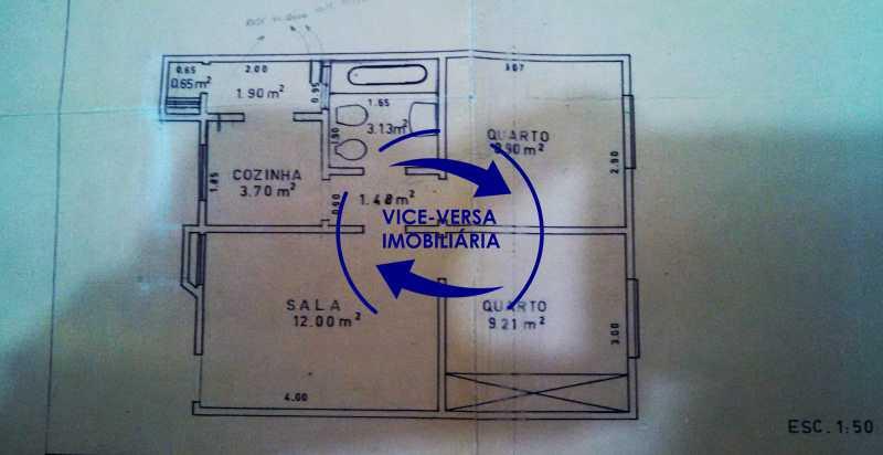 planta-baixa - Apartamento À venda no Rocha - Sala, 2 quartos, condomínio barato, a 5 minutos da Rua Ana Néri! - 1251 - 24