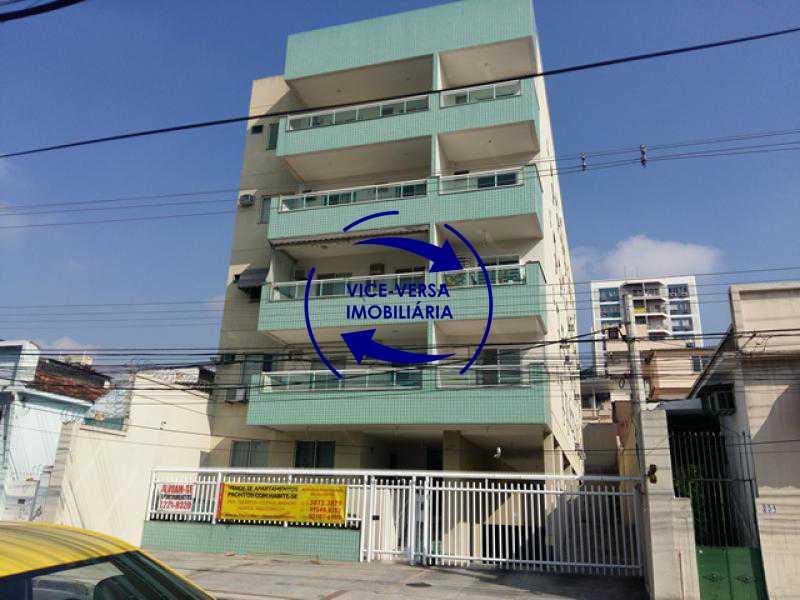 fachada - Apartamento À venda em Todos os Santos - sala, 2 quartos, área de serviço, vaga! - 1057-5 - 1