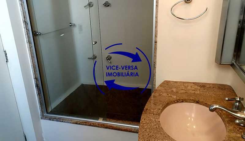 banheiro-da-suite - Apartamento À venda na Tijuca - junto metrô Uruguai, salão, 4 quartos, suíte, dependências completas, 2 vagas! - Z1209 - 21
