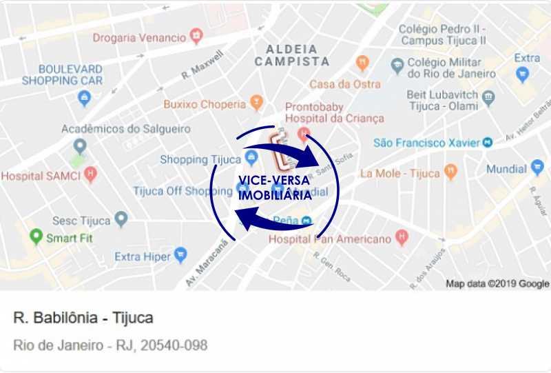 rua-babilonia-google-maps - Tijuca - apartamento À venda 2 quartos vaga dependências, próximo do metrô, comércio e serviços! - 1277 - 22