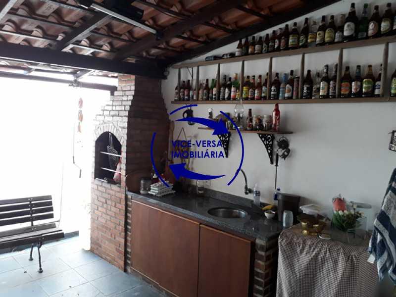 espaco-gourmet - Casa À venda na Freguesia - Suíça Carioca II, rua Luís Severiano Ribeiro! Estilo colonial, lavabo, 2 suítes, armários, closet, varanda, lavanderia,espaço gourmet! - 1288 - 11