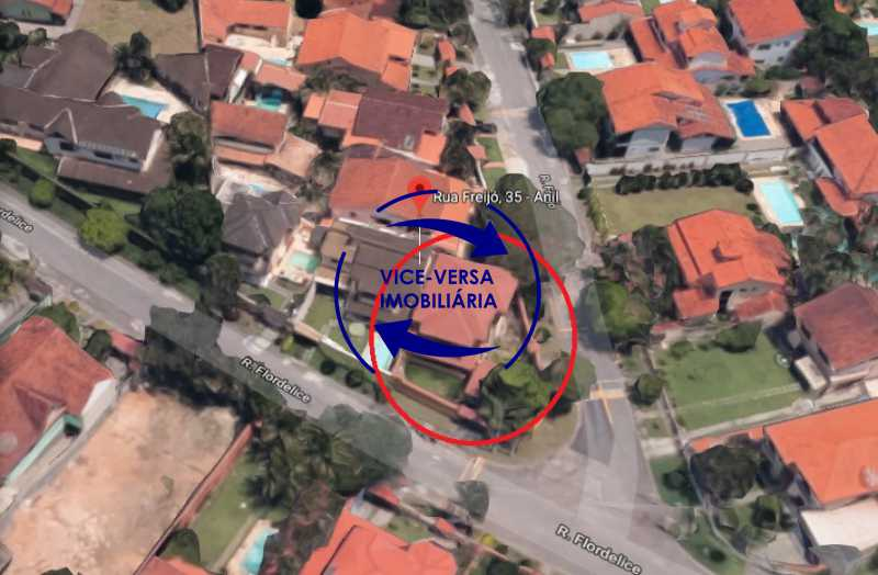 vista-aerea - EXCLUSIVIDADE!!! Casa duplex À venda no Condomínio Bosque dos Esquilos esquina com a Rua Flordelice - 4 quartos, suítes, centro de terreno! - 1291 - 23