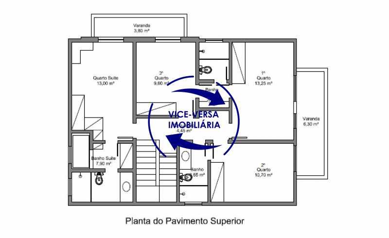 planta-pavimento-superior - EXCLUSIVIDADE!!! Casa duplex À venda no Condomínio Bosque dos Esquilos esquina com a Rua Flordelice - 4 quartos, suítes, centro de terreno! - 1291 - 26