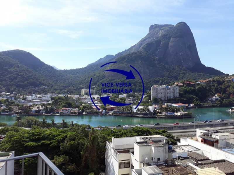 vista - Flat À venda no Jardim Oceânico - Avenida do Pepê! Sala 2 ambientes, varanda, cozinha, área de serviço, com splits! - 1293 - 10
